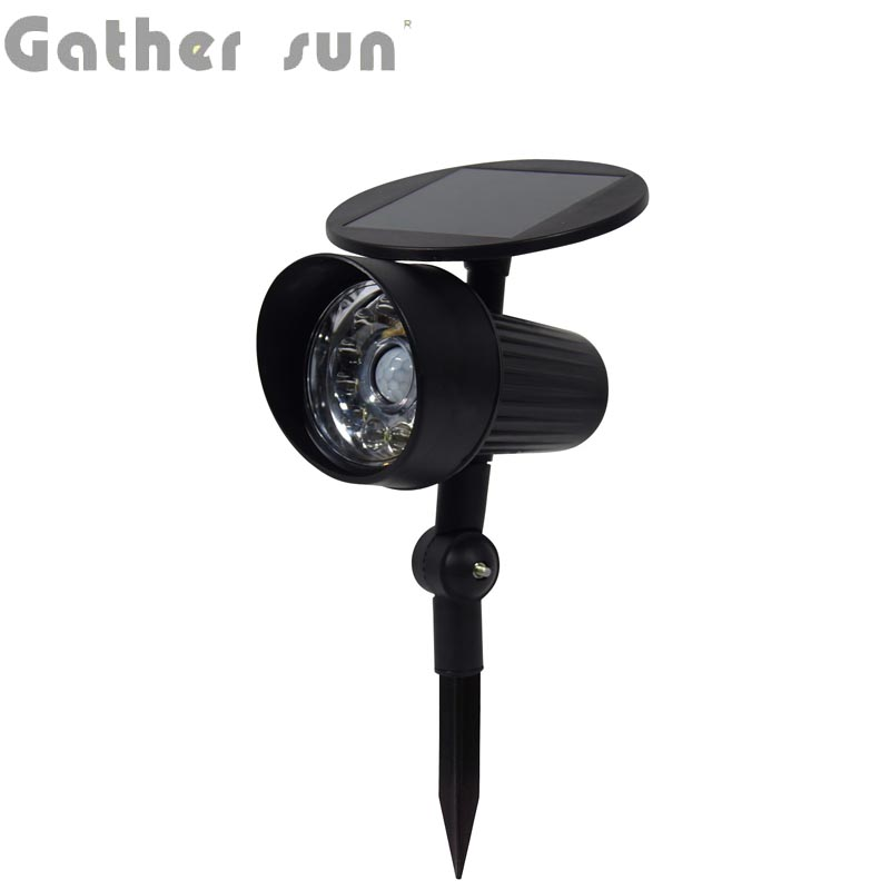 LED Solar Power Lawn/Path PIR Sensor Light ABS Fake Camera Spotlight Outdoor IP44 Waterproof For Garden Lighting High Quality