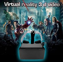 Best Price Black Universal Virtual Reality 3D Video Glasses for 3.5 to 5.6 inch Phones Google Cardboard Movie Cinema Convenient