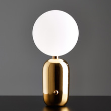 Modern Glass Ball Bedside Led Night Lights Bedroom Living room Lamp Gold/Black/White Body Desk Decoration Free Shipping