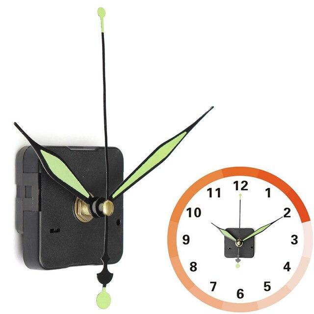 DIY Clock Mechanism Classic Hanging Black Quartz Watch Wall Clock Movement Mechanism Parts Repair Quartz Wall Clock