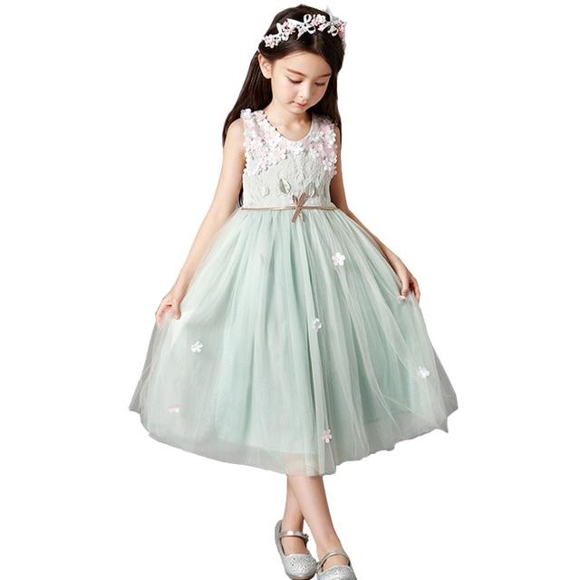 8bf4ced3c4340 Enfants Filles De Fleur Robes de Soirée De Mariage Tutu Princesse Robe  Jeunes Filles Vêtements Robes