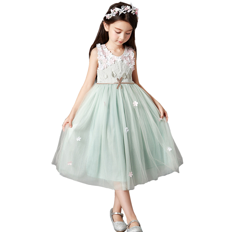 Kids Flower Girls Dresses Evening Party Wedding Tutu Princess Dress Teenage Girls Clothes Dresses For Bridesmaids 12Y 13Y 14Y сапоги nylon
