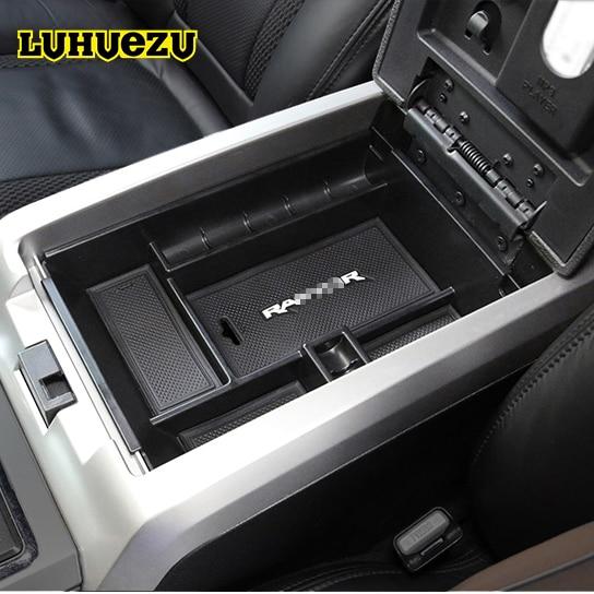 LUHUEZU Car Central Armrest Console Tray Storage Box For