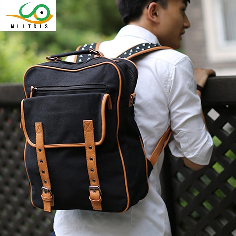 MLITDIS 2017 new winter male Korean travel rivets canvas large capacity internal interval Student Backpack drop shipping men women outdoor military army tactical backpack trekking sport travel rucksacks camping hiking trekking camouflage bag
