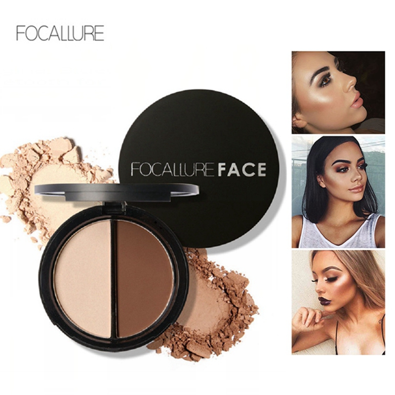 Focallure Brand 3 Colors Blush & Highlighter Palette Highly Pigmented Face Matte Highlighter Powder Illuminated Blush With Brush Beauty Essentials Beauty & Health