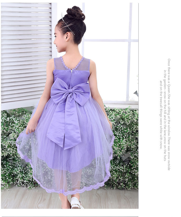 High Quality Girl Lace Princess Dress Kids Girl Long Trailing ...