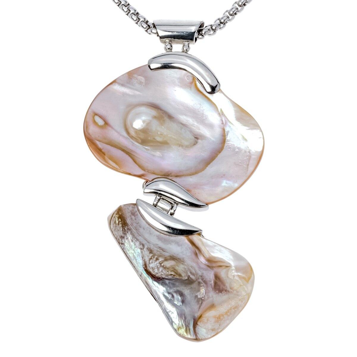 Mother Of Pearl Shell ожерелье w нержавеющей стали цепи ювелирные изделия подарки на день рождения для женщин Ее жена подруга i015 ...