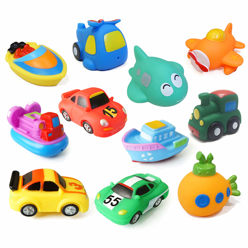 11piecesset Kids Water Toys Children Pool Swimming Toys water spraying Baby Bath Toy Bathroom Toys for baby