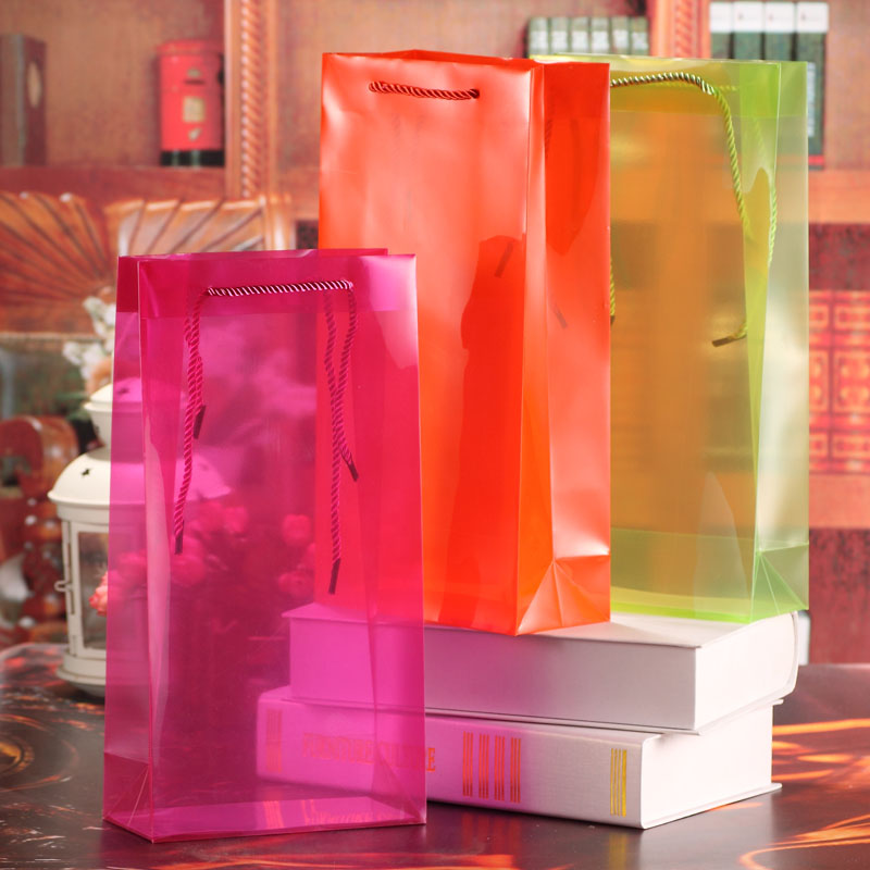 Colorful Clear PP Bags Wine Packing 3x17x8cm 6.7