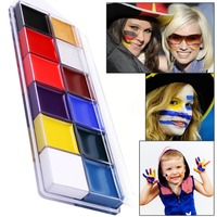 12 Color DIY Flash Tattoo Face Body Paint Oil Painting Art Halloween Party Fancy Dress Beauty