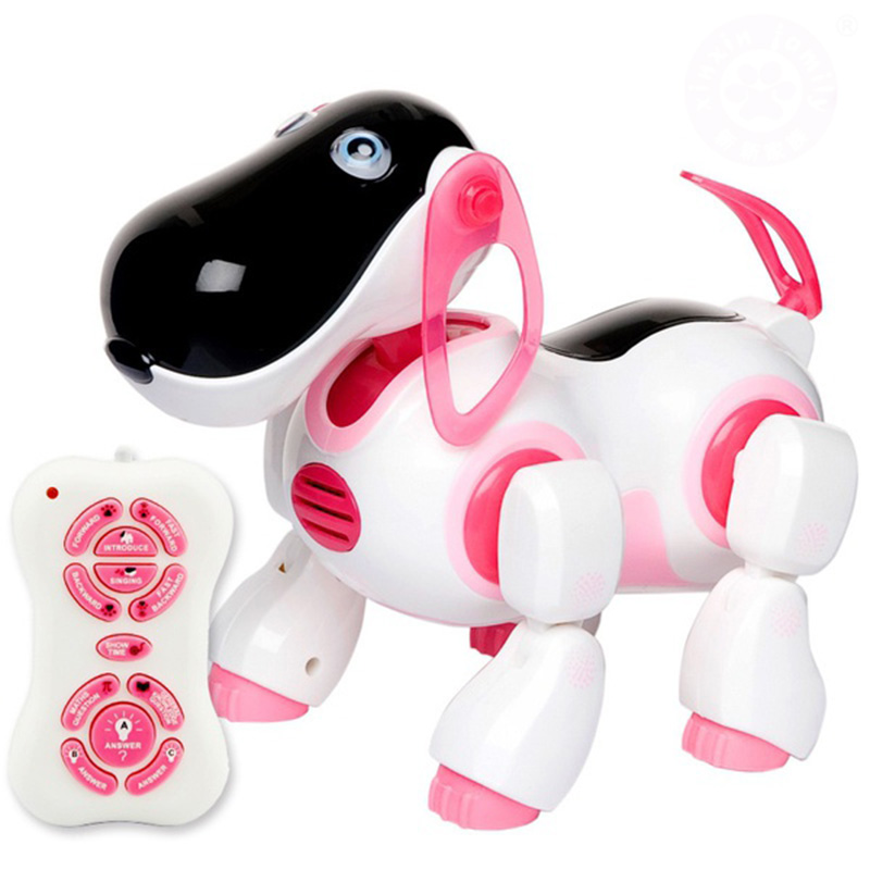 Robot Dog Lovely Music Shine Intelligent Electronic Robot Walking Dog Puppy Action Toy Pet Kids Baby with Music Light свитшот print bar music robot