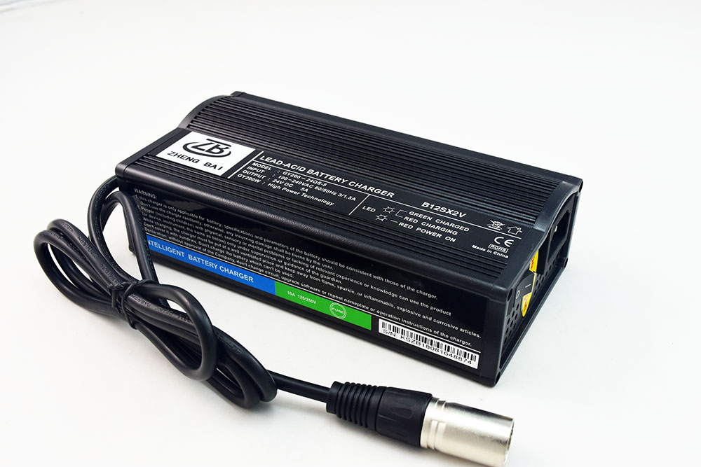 24V 5A lead acid gel battery charger for electric wheelchair or mobility scooter or golf cart