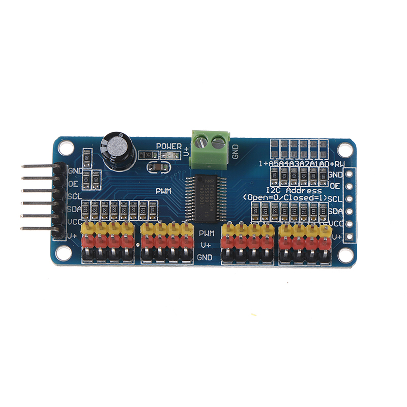 <font><b>16</b></font> Channel 12-bit PWM/<font><b>Servo</b></font> <font><b>Driver</b></font>-I2C Interface PCA9685 Module For Arduino Or Raspberry Pi Shield Module <font><b>Servo</b></font> Shield image