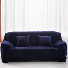 Sofa Chair Slipcover Plush Chair Loveseat Sofa Cover Stretchable Pure Solid Cushion Sofa Case Washable Prevent