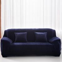 Sofa Chair Slipcover Plush Chair Loveseat Sofa Cover Stretchable Pure Solid Cushion Sofa Case Washable Prevent Sofa Anti Dust