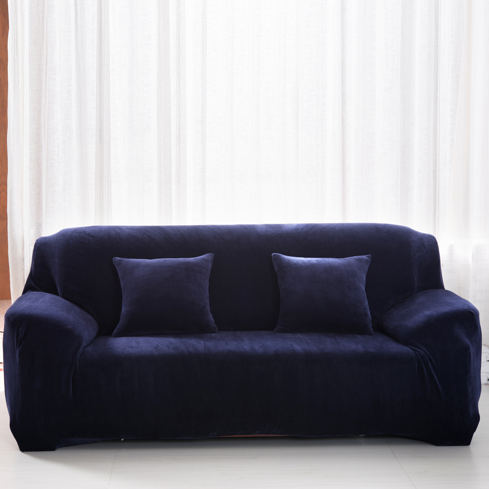 Kussen Bank Us 23 28 22 Off Sofa Stoel Hoes Pluche Stoel Loveseat Sofa Cover Stretchable Pure Solid Kussen Bank Case Wasbare Voorkomen Sofa Anti Stof In Sofa