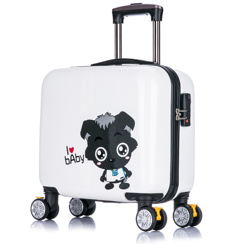 0ea58dbe820e US $123.41 |New arrival!Children's lovely cartoon travel luggage bags on  universal wheels,16inches pink abs hardside case luggage for girl-in ...