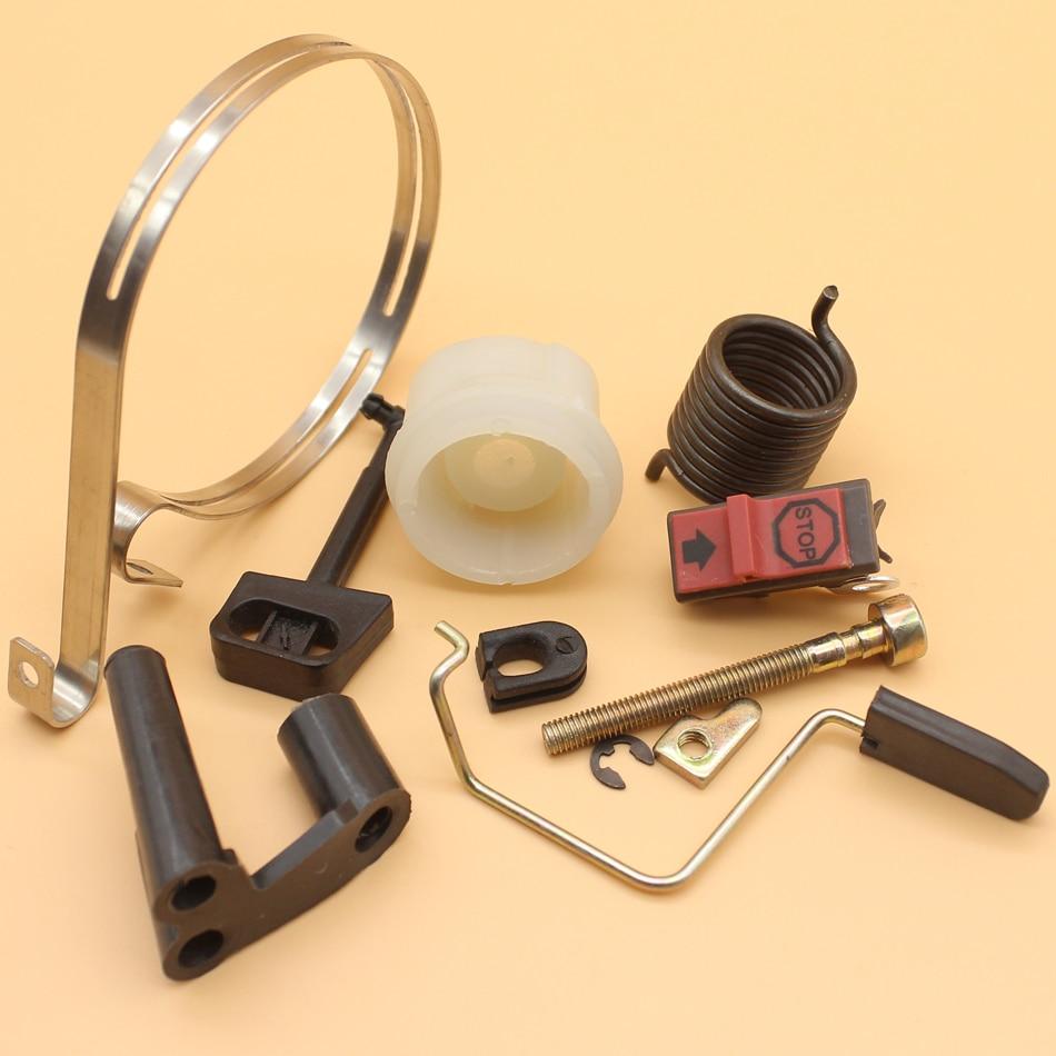 Brake Band Chain Tensioner Starter Spring Hub Throttle Rod Kit For Husqvarna 142 141 136 137 Chainsaws Spare Parts