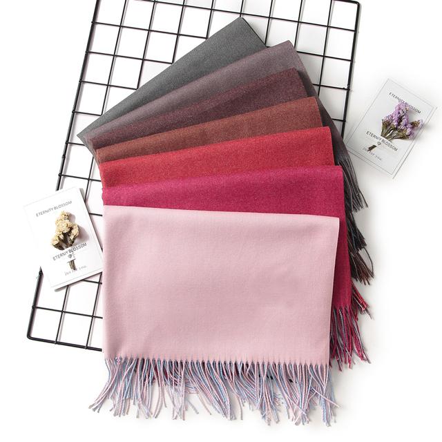 solid soft cashmere pashmina shawls wraps