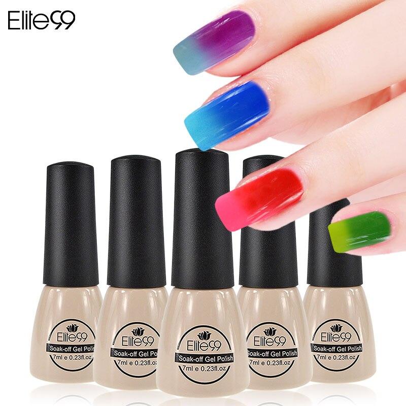 Color Changing Gel Nail Polish: Elite99 UV LED Gel Thermal Change Color Top Manicure Nails