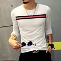T4318 95% Хлопок Повседневная С Длинным Рукавом футболка Мужчины М-5XL Мужские Футболки Мода 2016 Hombre Camisetas Футболка Homme