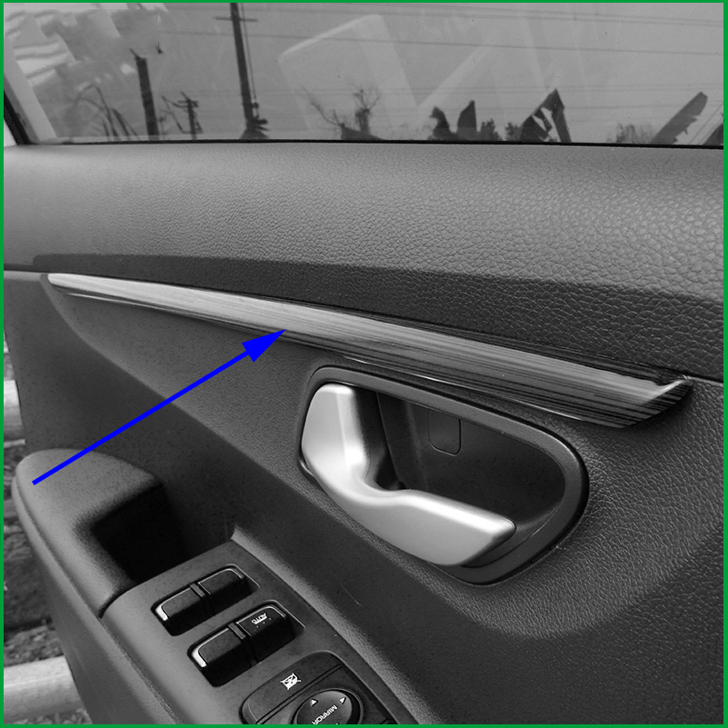 Для Rio 4 KX Cross 2017 накладка на внутреннюю дверь накладка на внутреннюю подлокотник молдинги для автомобиля Стайлинг украшение аксессуар часть|Лепнина для интерьера|   | АлиЭкспресс