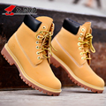 Famous Brand Designer 4 Styles Autumn Winter Men Ankle Genuine Leather Boots Mens Martin Outdoor Snow Shoes