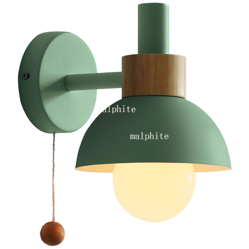 Nordic wall lamp living room aisle bathroom mirror headlight bedroom wall sconce bedside macaron flashlight wall light home deco