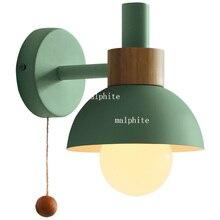 Nordic wall lamp living room aisle bathroom mirror headlight bedroom sconce bedside macaron flashlight light home deco