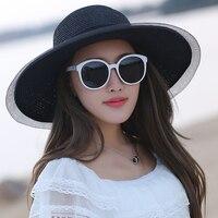 SORRYNAM Branded Summer Straw Hats For Women Visor Beach Hat Women S Panama Summer Beach Sun