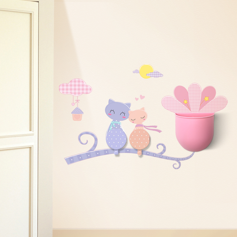 creative cartoon wall stickers strong viscose instoragebarrels