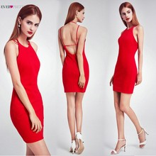 ac32e6e4cb9 Sexy Backless Short Cocktail Dresses 2018 New Arrival Ever Pretty Brand  EP05873 Red Simple Party Dresses