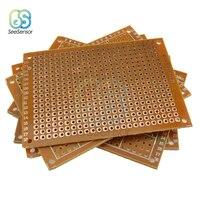10 pces única face universal pcb placa 50x70mm 2.54mm buraco passo diy protótipo papel impresso placa de circuito painel 5x7 cm|Peças e acessórios p/ instrumentos| |  -