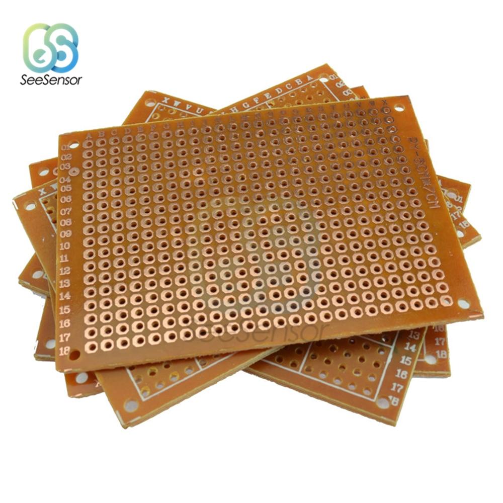 10Pcs Einseitig Universal PCB Board 50x70mm 2,54mm Loch Pitch DIY Prototyp Papier Gedruckt Schaltung board Panel 5x7 cm