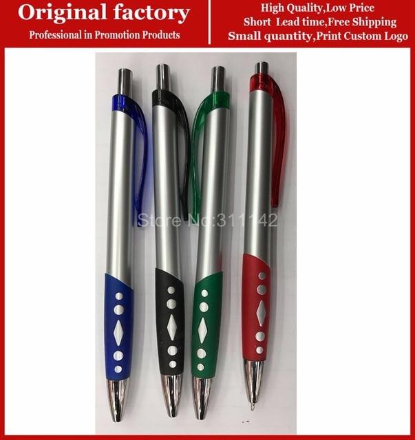 Hot selling good quality ball pen silver plated custom logo nurse pen color  plastic promotional pen custom pens with logo 1ad463e96bb5