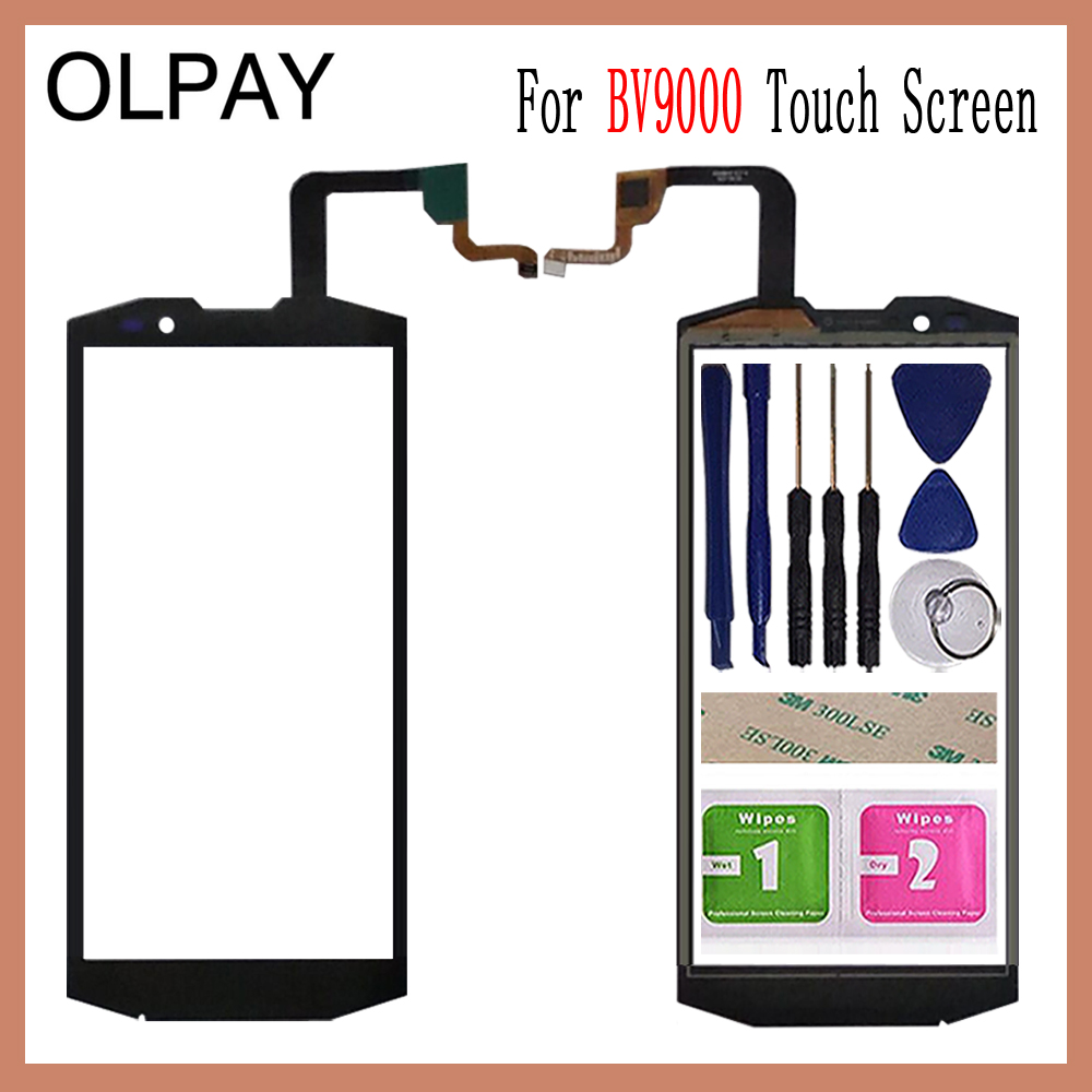 OLPAY 5.7'' Touch Glass Panel For Blackview BV9000 BV 9000 Lens Sensor Touch Screen Digitizer Glass Sensor Tools Free Adhesive