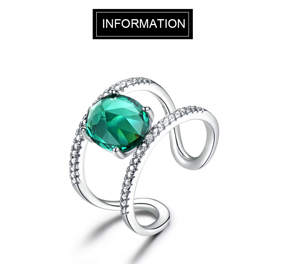 UMCHO-Emerald-silver-sterling-rings-for-women-RUJ074E-1-PC_01