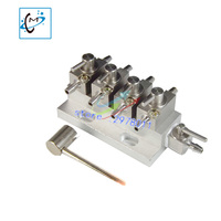 Best Quality UV Flatbed Plotter Printer Printhead Cleaning 3 Way Cleaning Valve Units Assembly 4