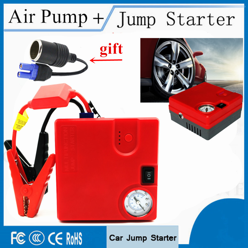 High Power 16800mAh Car Jump Starter Power Bank 400A Portable Starting Device Buster Inflatable Pump Car