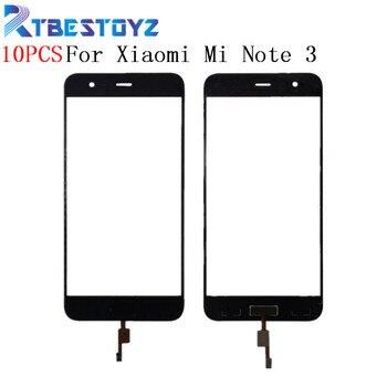10PCS/lot 5.5'' Touch Screen Digitizer Sensor Outer Glass Lens Panel With Fingerprint For Xiaomi Mi Note 3 Note3