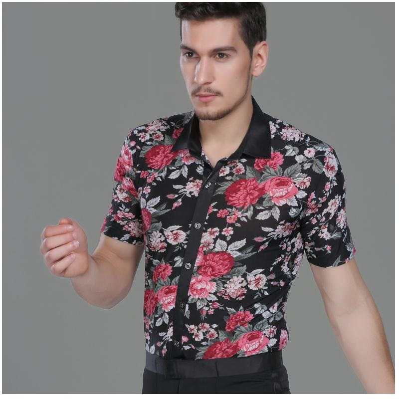 Male Latin Dance Shirts Men's  Dance Tops Sexy Men Latino Clothing for Latin Dance Clothes Modern Short Sleeve B 6819-in Latin from Novelty & Special Use on Aliexpress.com   Alibaba Group