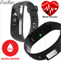 Smart Bracelet Blood Pressure Blood Oxygen Heart Rate Monitor Fitness Tracker Touchpad Sports Wristband Watch For