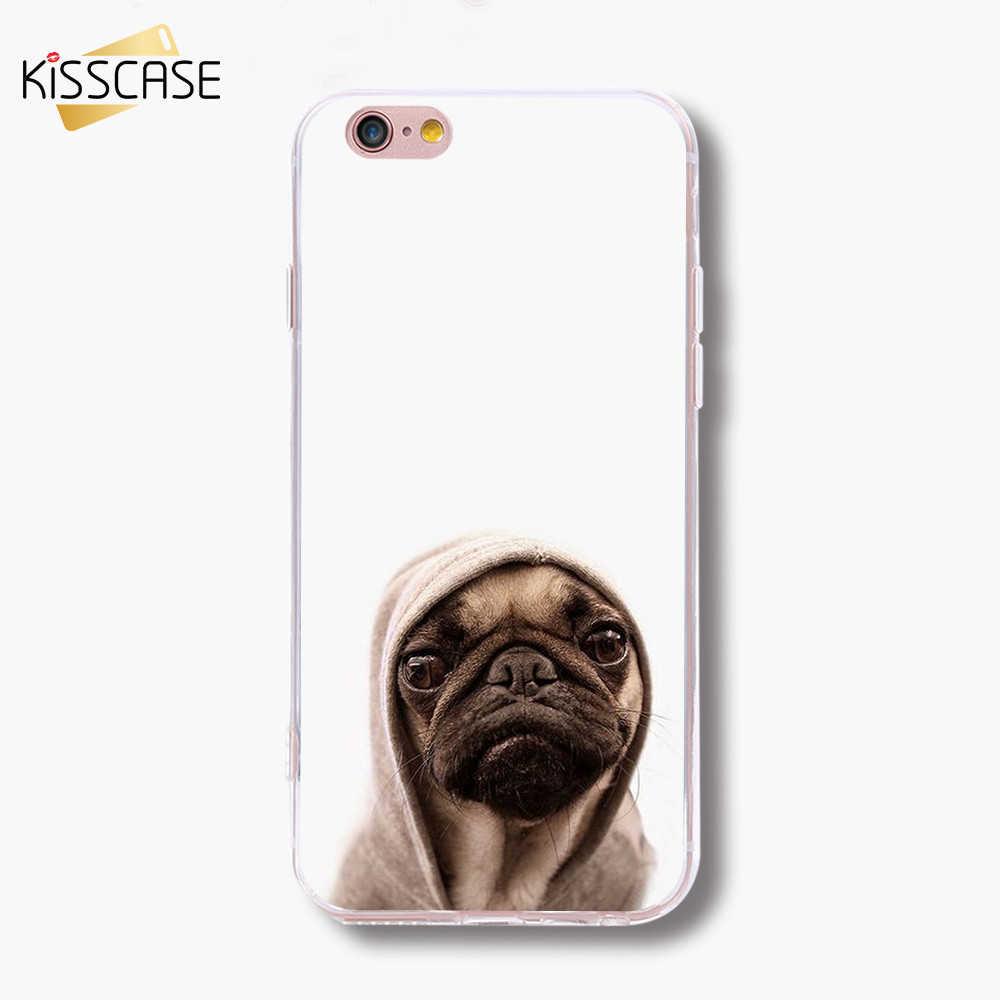 BEIJOS Engraçado Caso Cão Para o iphone XS Max XR X 8 7 Mais Casos Cão Husky Bonito Caixa Do Telefone Para iPhone 5S SE 6 6 s Shell Mais Funda