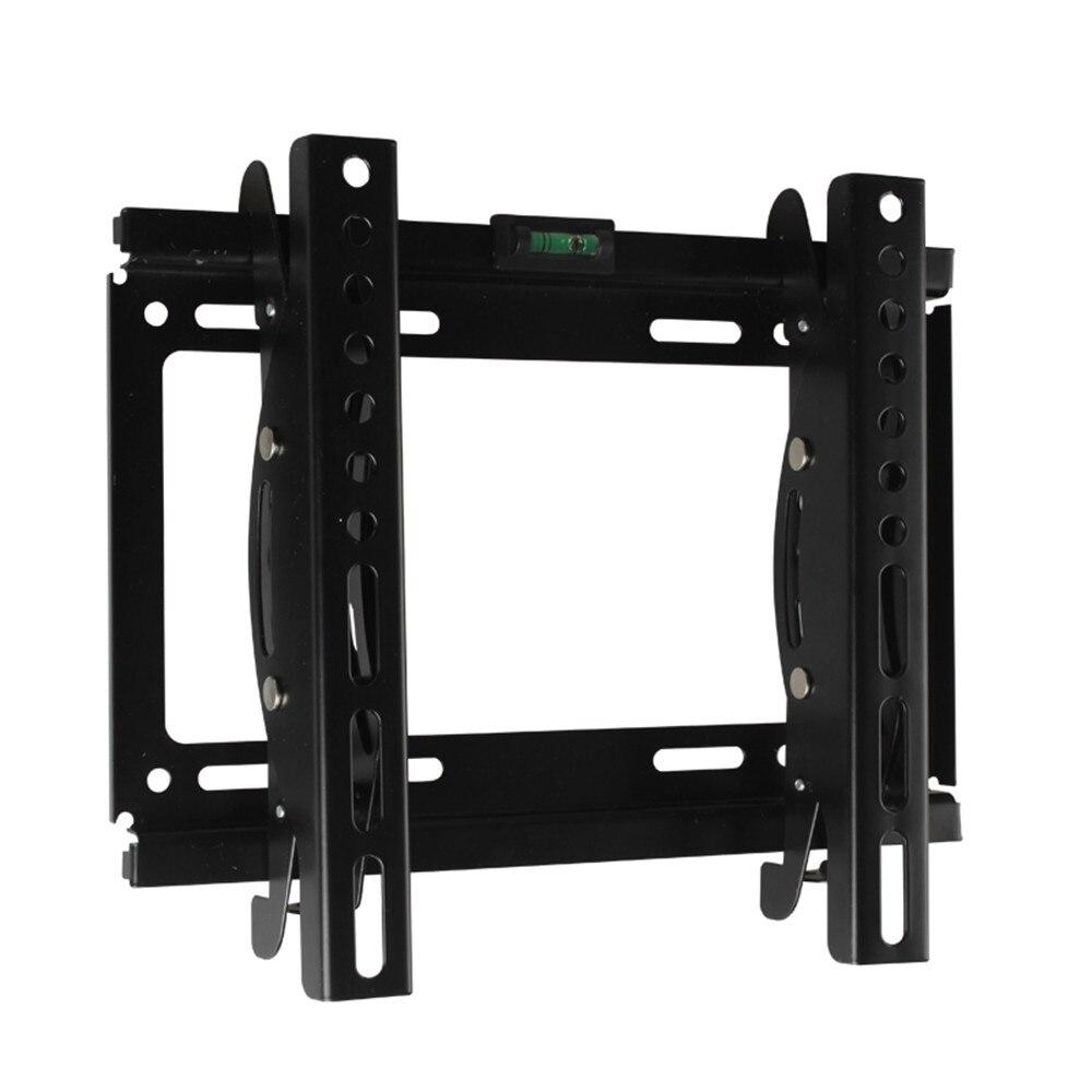 new black adjustable swivel led lcd tv wall mount bracket 32 below steel support 20kg monitor. Black Bedroom Furniture Sets. Home Design Ideas