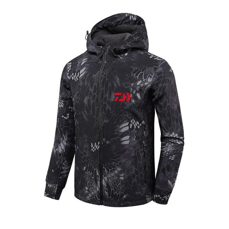 2018 дайв Рыбалка рубашки Осень Зима теплые уличные куртки для рыбалки Спорт флис с капюшоном одежда для рыбалки-in Одежда для рыбалки from Спорт и развлечения