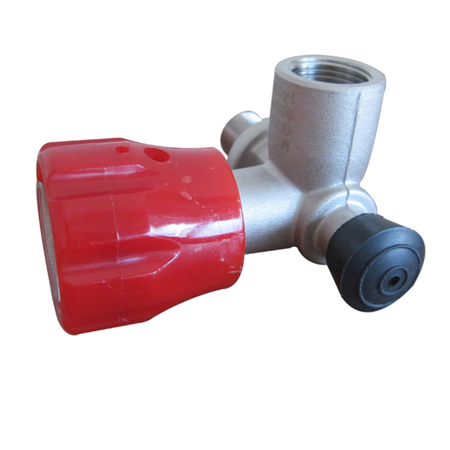 Red Gauged Paintball Valve,SCBA Valve for Compressed Air,4500 Psi M18*1.5 Thread-Acecare Tech N