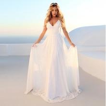 Summer Beach Boho Wedding Dresses A Line Spaghetti Straps Bridal Gowns Lace Wedding Gowns