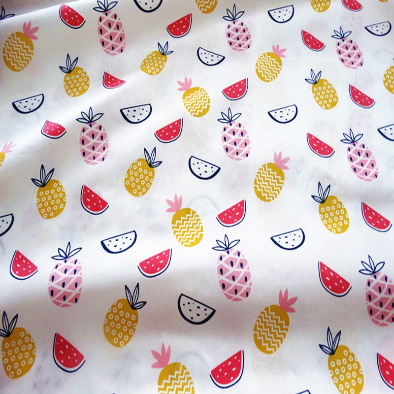 New 4 Designed Twill Cotton Fabrics DIY Patchwork Quilting Fabric for Baby and Children Pillows Cushions Curtains Material in Fabric from Home Garden