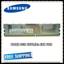 Memória ddr2 8 gb 16 gb do servidor de samsung 667 mhz ram ecc fbd PC2-5300F FB-DIMM totalmente buffer 240pin 5300 8g 2rx4