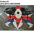 Top selling fairing kit for Honda white red black CBR 1000RR 2012 2013 2014 red white black fairings CBR1000RR 12 13 14 CN45